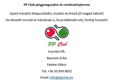 PP Club - Az elnöki pingpongszalon,pingpong,asztalitenisz